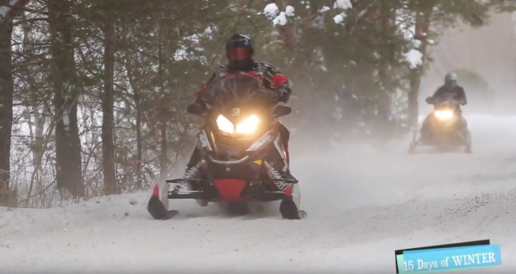 Hitting the Haliburton Snowmobile Trails