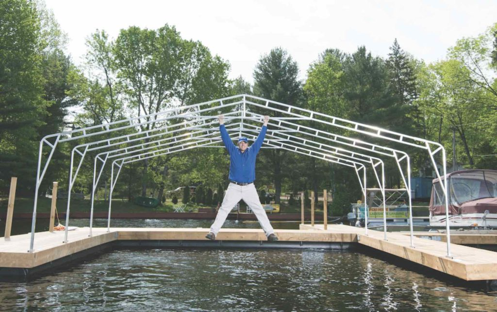 Aquadome's Cottage Country Awnings Provide Protection