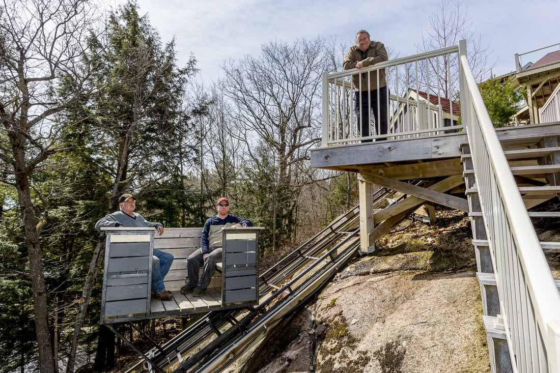 Cottage Lifts elevation solutions owner on deck